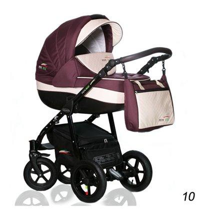 Дитяча коляска 3 в 1 Verdi Pepe Eco 10 Burgund