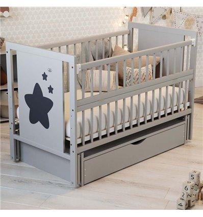 Дитяче ліжечко Дубик-М Зіронька сіре