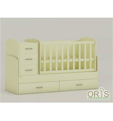 Дитяче ліжко-трансформер Oris Maya ваніль