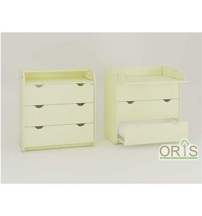 Комод-пеленатор Oris на 3 ящики ваніль