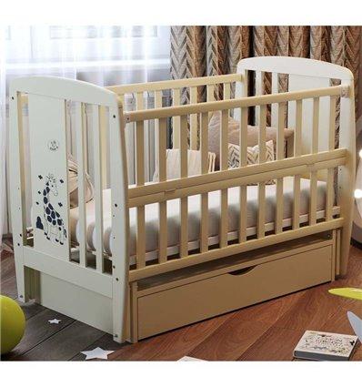 Дитяче ліжечко Дубик-М Жирафка слонова кістка