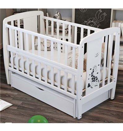Дитяче ліжечко Дубик-М Жирафка біле