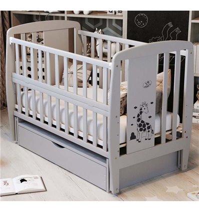 Дитяче ліжечко Дубик-М Жирафка сіре