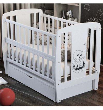 Дитяче ліжечко Дубик-М Песик біле