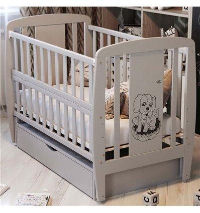 Дитяче ліжечко Дубик-М Песик сіре