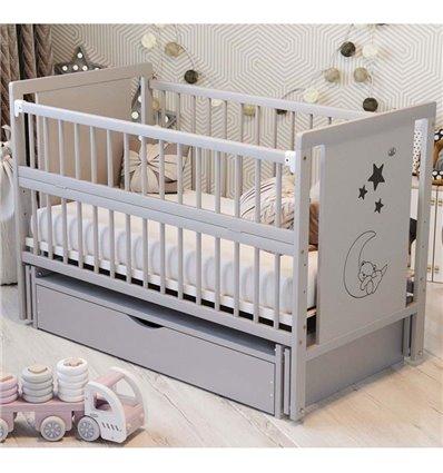 Дитяче ліжечко Дубик-М Ведмедик сіре