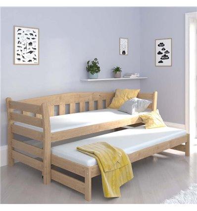 Ліжко з додатковим спальним місцем Luna Тедді дуо бук