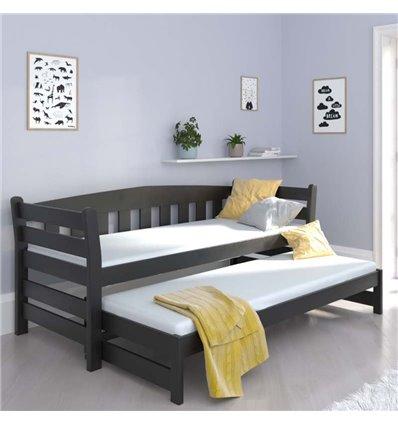 Ліжко з додатковим спальним місцем Luna Тедді дуо венге