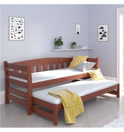 Ліжко з додатковим спальним місцем Luna Тедді дуо вільха