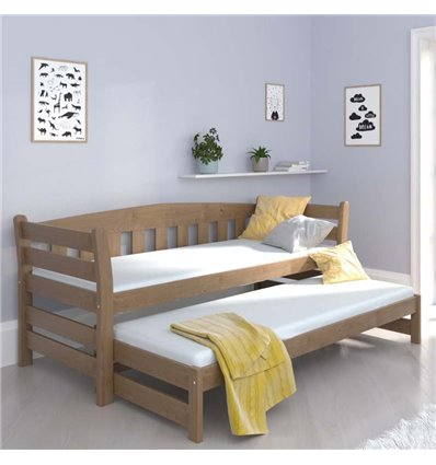 Ліжко з додатковим спальним місцем Luna Тедді дуо горіх світлий