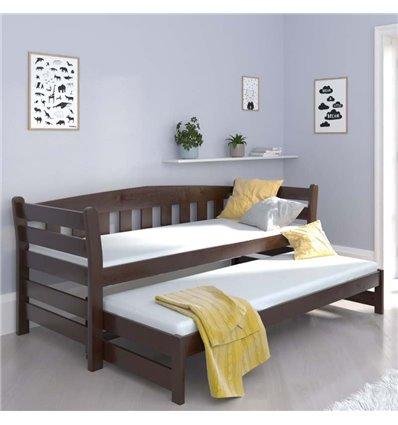 Ліжко з додатковим спальним місцем Luna Тедді дуо горіх темний