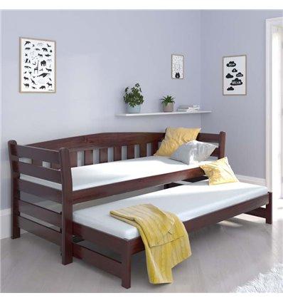 Ліжко з додатковим спальним місцем Luna Тедді дуо палісандр