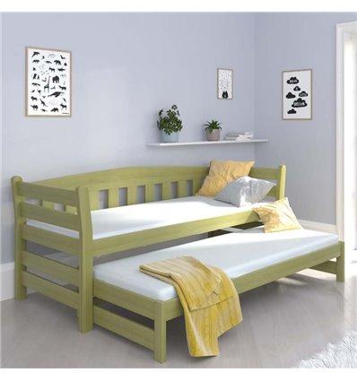 Ліжко з додатковим спальним місцем Luna Тедді дуо хакі
