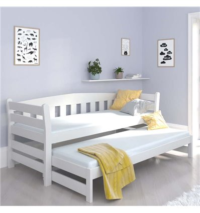 Ліжко з додатковим спальним місцем Luna Тедді дуо біле